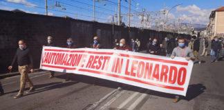 I lavoratori di Leonardo in presidio per difendere l'automazione